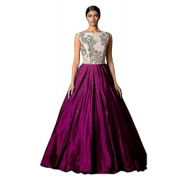Purple Blue Gown for Party