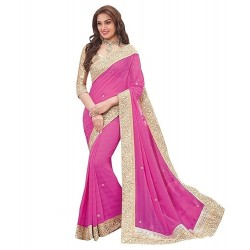 Pink Georgette Peach Party...
