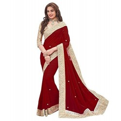 Maroon Georgette Peach...