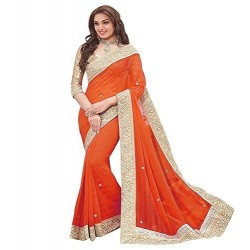 Orange Georgette Peach...