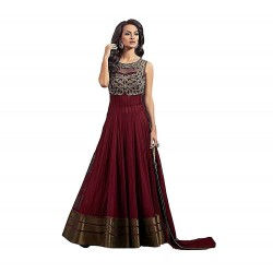 Maroon Long Party Wear Kurta