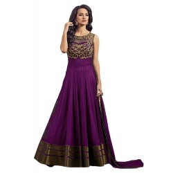 Purple Long Party Wear Kurta
