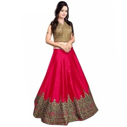 Pinkish Red Anarkali...
