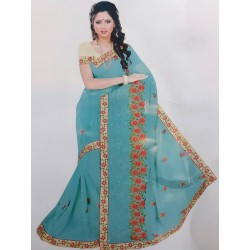 Marble Chiffon Saree with...