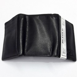 Three Fold Black Leather...